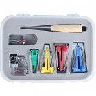 Bias Tape Maker Kit Set for DIY Sewing Quilting Awl and Binder Foot Case Tools as shown
