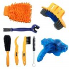 Bicycle Chain Washer Set Mountain Bike Accessory Bike Too Cleaning Brush 8-piece set_One size