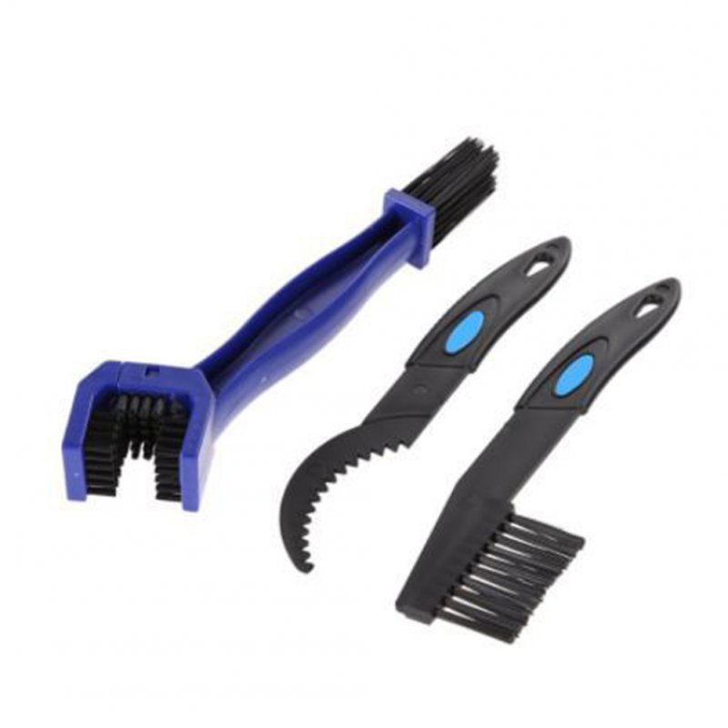 Bicycle Chain Washer Set Mountain Bike Accessory Bike Too Cleaning Brush Brush set of 3_One size