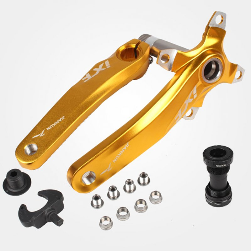 Bicycle Crank IXF Left/Right Crank + Middle Shaft Bicycle Crankset Bicycle Accessories Bike Part Golden