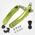 Bicycle Crank IXF Left/Right Crank + Middle Shaft Bicycle Crankset Bicycle Accessories Bike Part Green