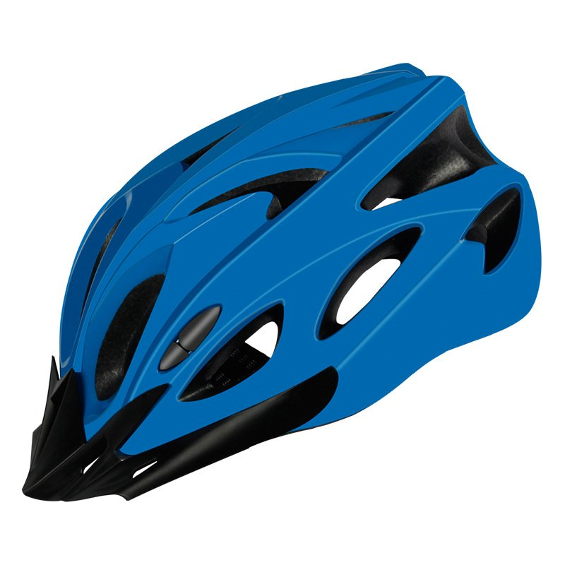 Bicycle Cycling Helmet EPS+PC Cover Integrated-Mold Breathable Riding Helmet MTB Bike Safely Cap Riding Equipment blue_Head circumference 52-60 can be adjusted