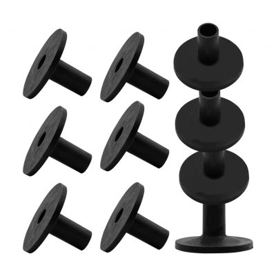 10Pcs MD16 Cymbals Holder Pad for Percussion Instruments(Opp) black