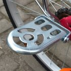 Bicycle Metal Folding Extension Rear Foot Pedal for Bike Electric Car Silver_10 * 6.5 * 0.2CM
