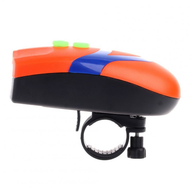 Bicycle Mountain Bike 3LED Headlight with Electronic Horn Bicycle Accessories  Orange