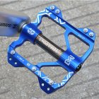 Bicycle Mountain Bike Aluminum Alloy Bearing Ankle Pedal Footing Lightweight CNC Pedal Blue silver_One size