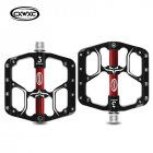 Bicycle Pedal Flat MTB Road 3 Bearings Bicycle Pedals Mountain Bike Pedals Wide Platform Pedal CX-V15 black_Free size