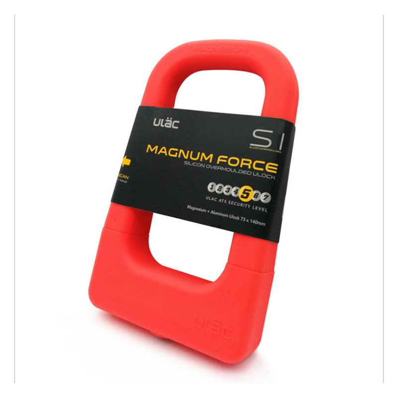 Bicycle Silicone U-Lock Mountain Bike  Anti Theft Lock Universal Aluminum Waterproof Anti-Collision Portable Bicycle Lock Accessories red