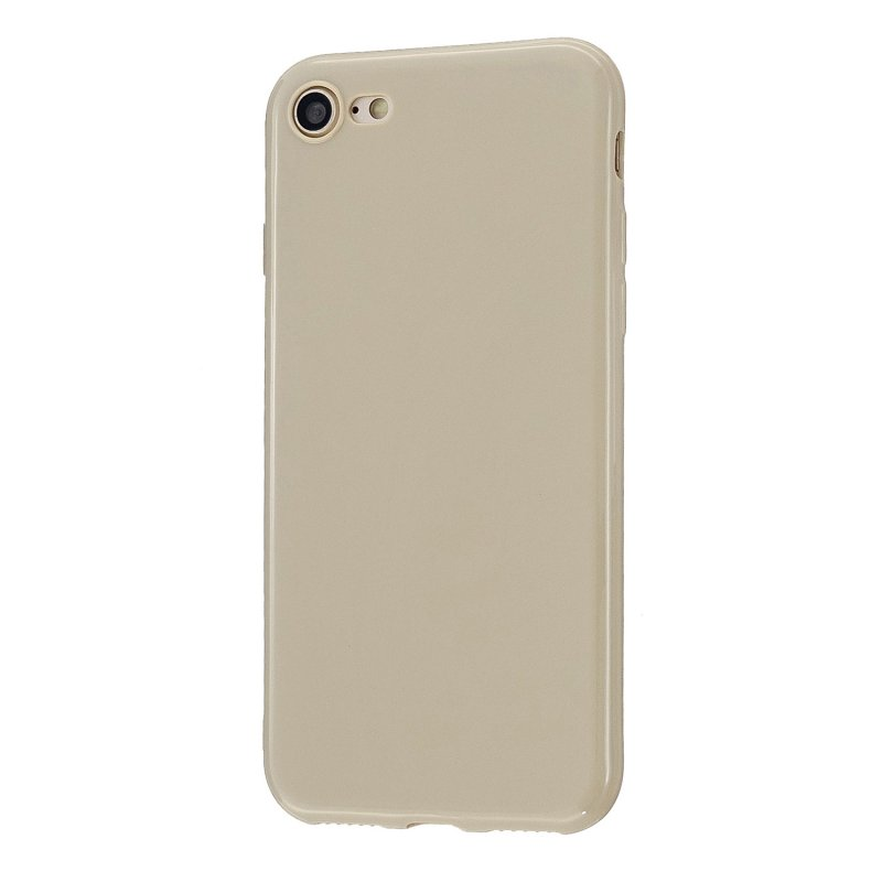 For iPhone 5/5S/SE/6/6S/6 Plus/6S Plus/7/8/7 Plus/8 Plus Cellphone Cover Soft TPU Bumper Protector Phone Shell Milk tea