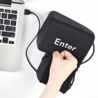 Big Enter Anti Stress Relief Button USB Nap Pillow Squeeze Key Funny Decoration black