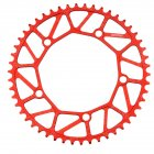 Bike Chainwheel Narrow Width Anti hanging Chain Colorful Plating Chainring For Brompton 50 52 54 56 58T red