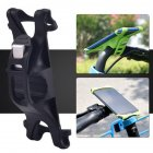 Bike Phone Holder Silicone Adjustable Pull Button Anti-shock Mount Bracket  black