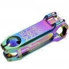 Bike Stem Full CNC Bicycle Handlebar Stem 0 Degree Colorful Stem Bike Parts 100MM * 31.8 colorful_31.8 * 80MM