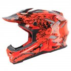 Children Scooter Helmet Children Safe Protection Helmet  Orange red graffiti L