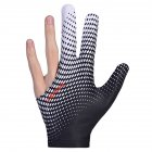 Billiard Gloves Three Fingers Lycra Anti Skid Snooker Pool Glove Left Hand Billiard Accessories Black and white_One size