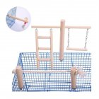 Bird Cage Stand  Toy Wood Stands Hanging Chew  Toys Ladder  Swing as picture show