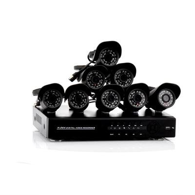 8 Channel DVR Kit w/ 8 Cameras - Serenity