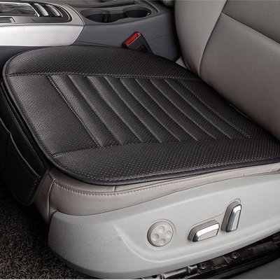 Black Breathable PU Leather Car Interior Seat
