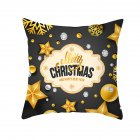 Black Gold Color Christmas Series Letter Printing Throw Pillow Cover TPR220-29_45*45cm (without pillow)