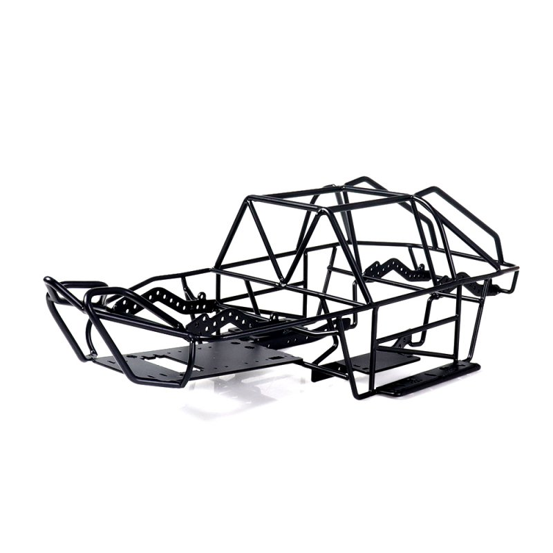 Black Metal Roll Cage Chassis Frame for Axial SCX10II AX90046 1/10 Scale RC Car Fine Details with Exquisite Appearance black