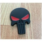 Black Skull Punisher Car Styling Emblem Decal Badge Sticker Metal
