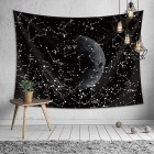 Black Starry Moon Series Printing Hanging Tapestry Wall Decoration 1  130 150