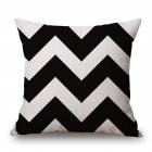 Black White Geometric Pattern Pillow Cover for Car Sofa Decor