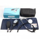 Blood Pressure Monitor with Echometer Sphygmomanometer Set Navy blue