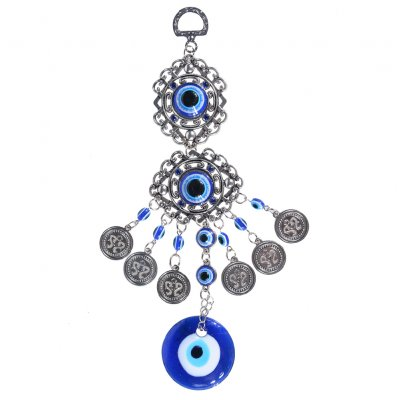 Blue Evil Eye Amulet Protection Turkish Wall Hanging Home Decotation  Blessing Gift Lucky Pendant