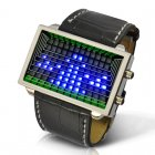 Blue LED stylish watch with futuristic and funky design and guaranteed to be fun for you or your children