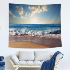 Blue Ocean Series Printing Wall Hanging Tapestry for Bedroom Home Decor 1#_150x130 (215g)