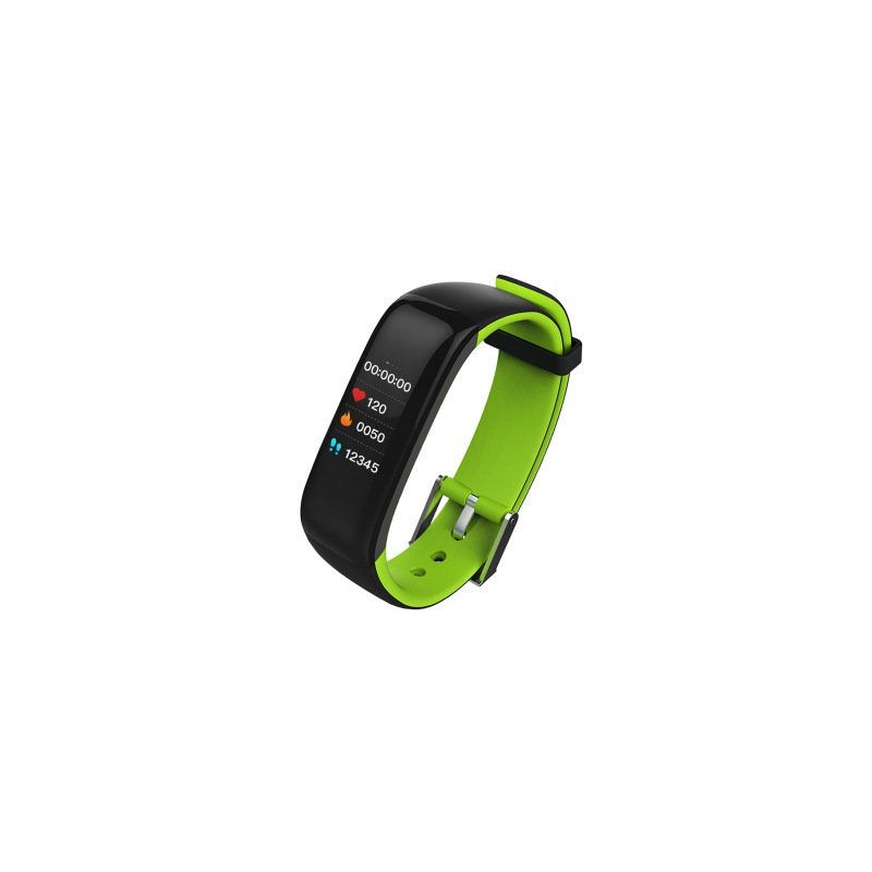 Bluetooth 4.0 Color Screen Smart Bracelet Heart Rate Monitor Sleep Activity Health Tracker Cycling Sports Wristband IP67 Waterproof Gift Ornament  green