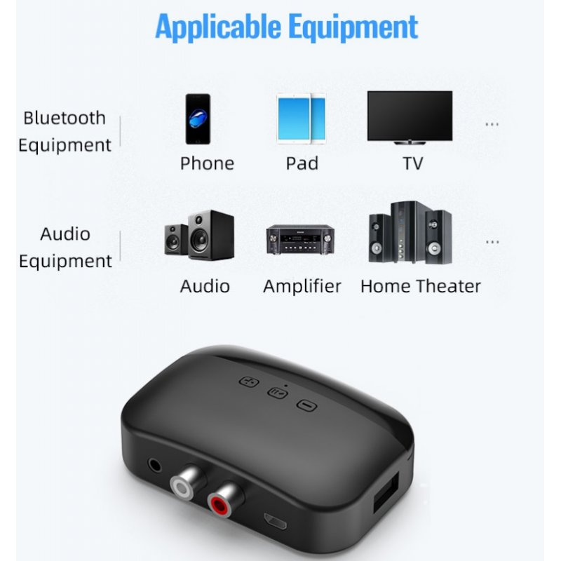 Bluetooth 5.0 Audio Receiver Nfc Bluetooth Receiver Hands-free Support Tf Card Usb Playback Wireless Adapter black