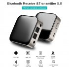 Bluetooth 5.0 Audio Receiver Transmitter 2 IN 1 3.5mm AUX Jack RCA Stereo Music Wireless Adapter For TV PC Car Speakers black
