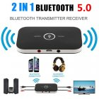 Bluetooth 5 0 Audio Receiver Transmitter 2 IN 1 RCA 3 5MM 3 5 AUX Jack USB Stereo Music Wire black