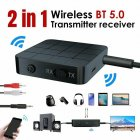 Bluetooth 5.0 Audio Receiver Transmitter AUX RCA 3.5MM 3.5 Jack USB Music Stereo Wireless Adapters Dongle black