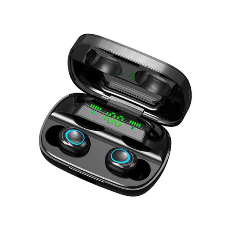 Bluetooth Earphone TWS Headset Touch Control Headphone Sweatproof HiFi Stereo Earbuds with 3500mA Charging Compartment black binaural earphone