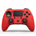 Bluetooth Game Controller Wireless Bluetooth Gamepad Six-axis Dual Vibration Handle Bluetooth Game Controller For PS4 red