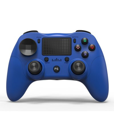 Bluetooth Game Controller Wireless Bluetooth Gamepad Six-axis Dual Vibration Handle Bluetooth Game Controller For PS4 blue
