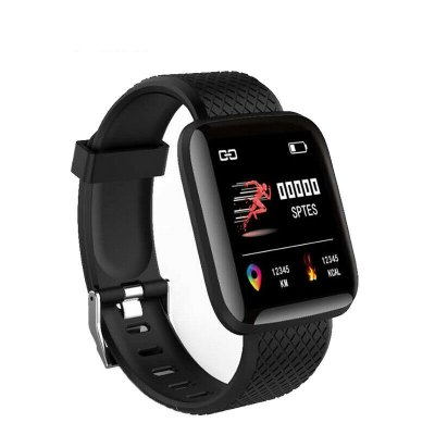 Heart Rate Blood Pressure Smart Watch black