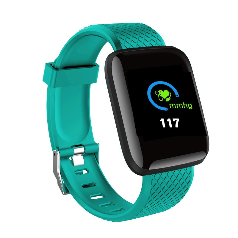 Bluetooth Heart Rate Blood Pressure Smart Watch Fitness Tracker Bracelet green