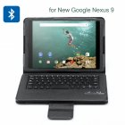 Bluetooth Keyboard Case for Google Nexus 9 has 59 Keys and a Built in 210mAh Lithium Battery with up to 37 Days Standby Time