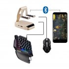 Bluetooth Keyboard Mouse Converter Throne Set for iPhone Android Universal Converter Converter + backlit keyboard + ordinary mouse