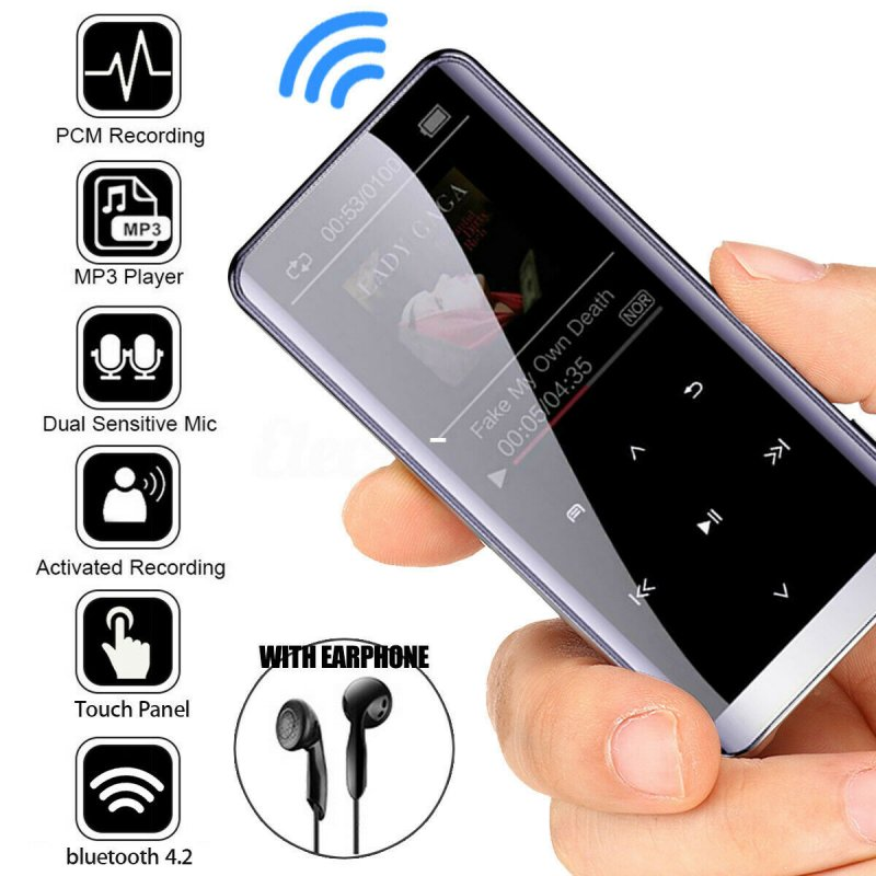 Bluetooth MP3 Player HIFI Sport Music Speakers MP4 Media FM Radio Recorder