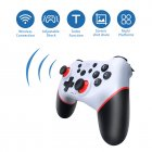 Bluetooth Pro Gamepad For Ns-switch Console Wireless Gamepad Video Game Usb Joystick Controller white