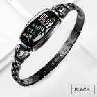 Bluetooth Smart Bracelet Step Counter Calorie Remote Information Reminder Continuous Heart Rate Monitoring Bracelet black