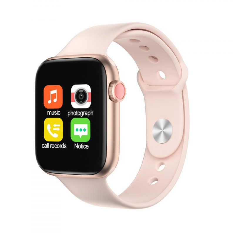 Bluetooth Smart Watch Heart Rate Blood Pressure Measurement Waterproof Wearable Devices Pink gold