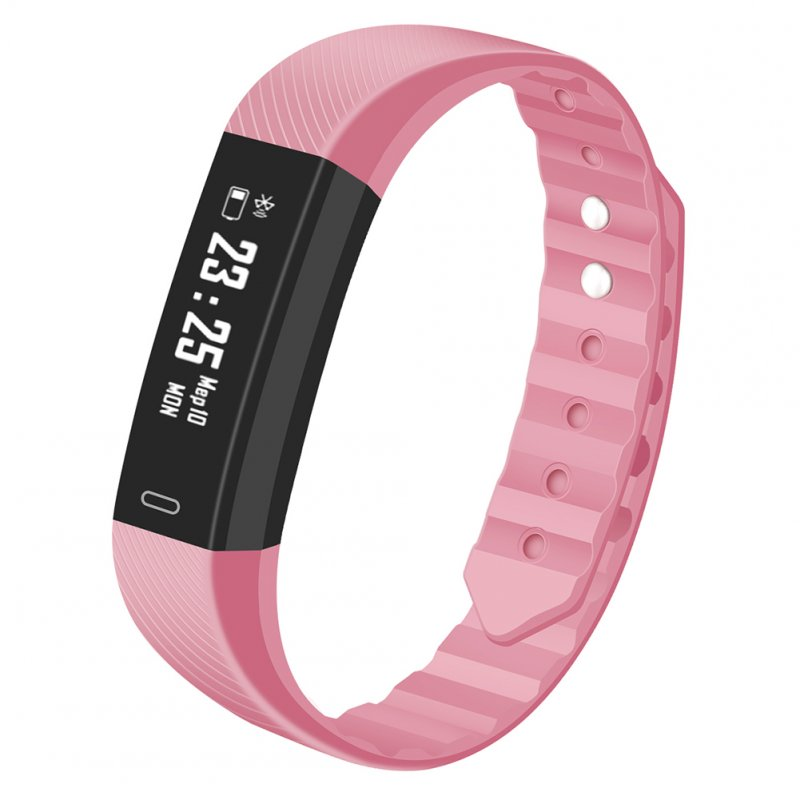Bluetooth Smartwatch Sport Fitness Heart Rate Monitor Step for Exercise Smartwatch Waterproof Pink