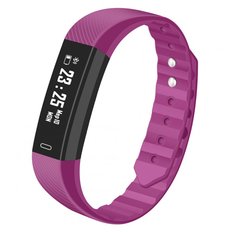 Bluetooth Smartwatch Sport Fitness Heart Rate Monitor Step for Exercise Smartwatch Waterproof purple