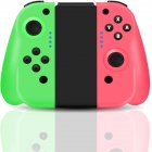 Bluetooth Somatosensory Controller For Switch Joy-con NS Left/Right Green and pink